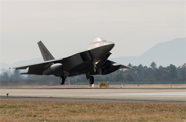south korea s confirmation military exercises include f 22 fighter aircraft