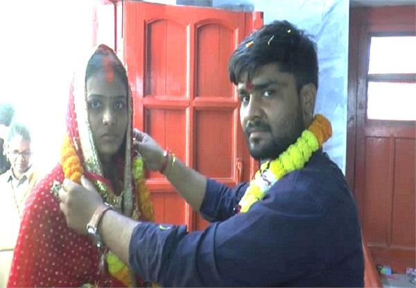 lover couple married in gorakhnath temple