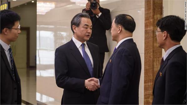 china foreign minister meets kim jong un