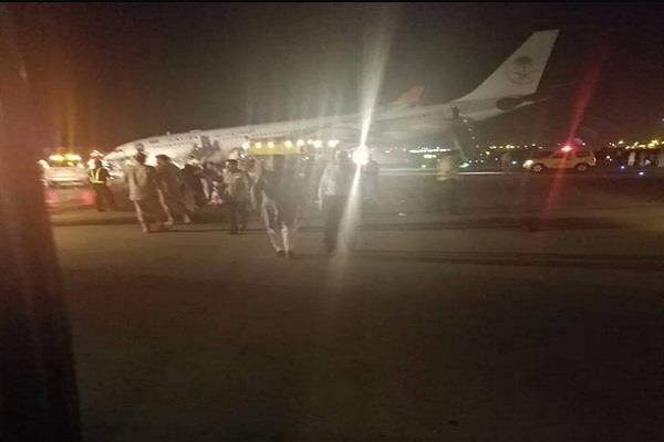 saudi arab airlines plane emergency landing 53 injured