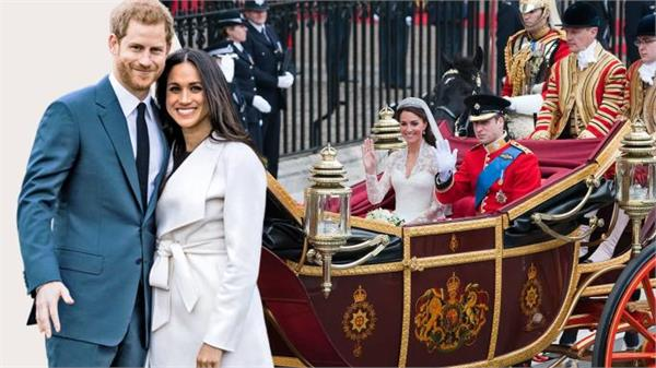 royal wedding meghan and prince harry had welcome on carriage