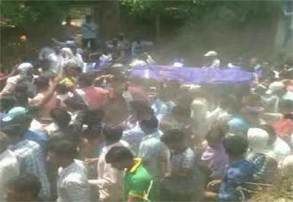 stressful peace in saharanpur funeral done by sachin walia