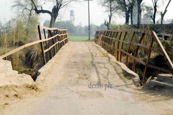 bridge in shamble condition at reasi