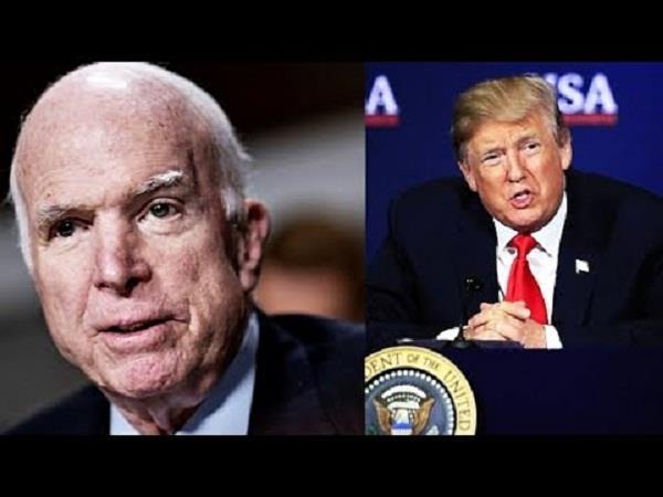 us senator john mccain does not want trump at his funeral