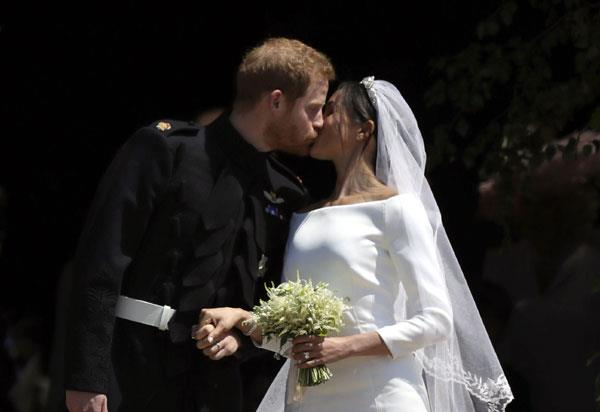 prince harry and megan were seen in such a royal wedding