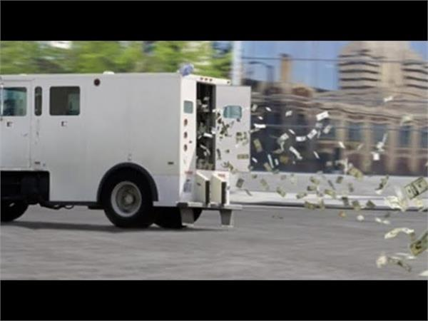 indiana armored truck spills money on highway