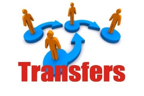 government orders for transfer and appointment of 4 hcs officers