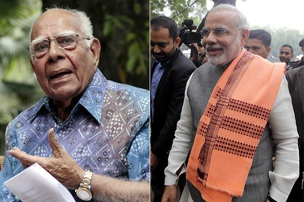 jethmalani says pm modi support in 2014 was stupidity