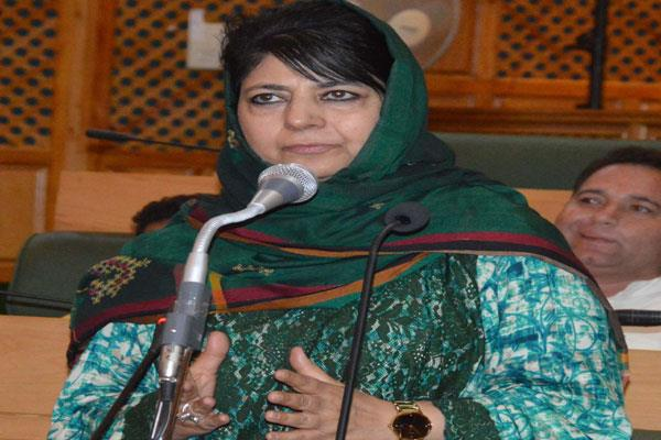 mehbooba said opposition is equally important