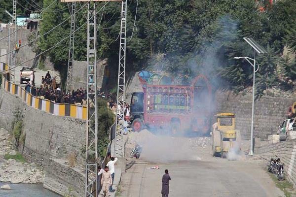 exhibition in gilgit baltistan order against pakistan several injured