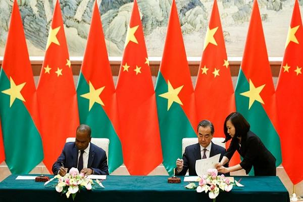 burkina faso established diplomatic relations with china