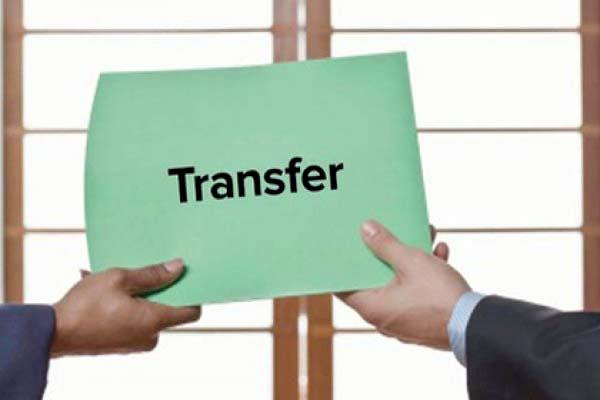 transfer of 7 employees in police department