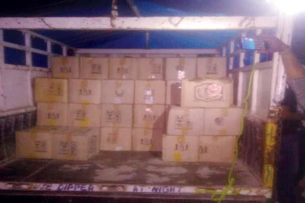 consignment of liquor caught from jeep driver arrested