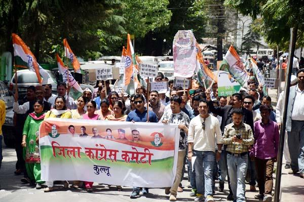 congress against the central government on rising inflation