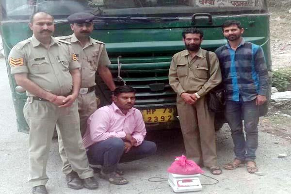 hashish recovered from bus passenger