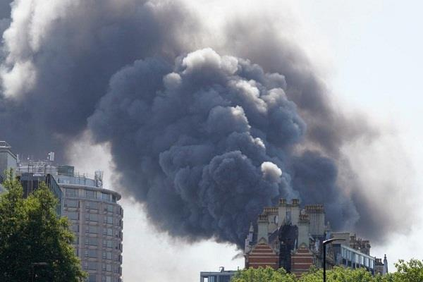 fire in central london