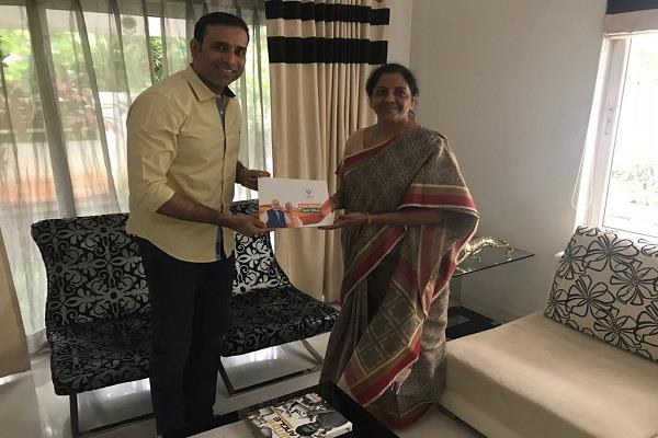 defense minister nirmala sitharaman found in hyderabad