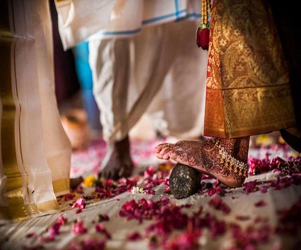 bride watching the groom during the jaymala festival refused to marry