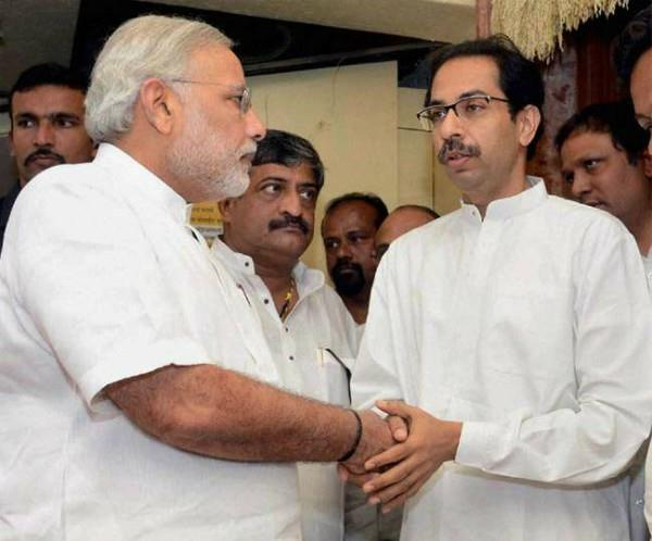 modi rectified his behavior with shiv sena