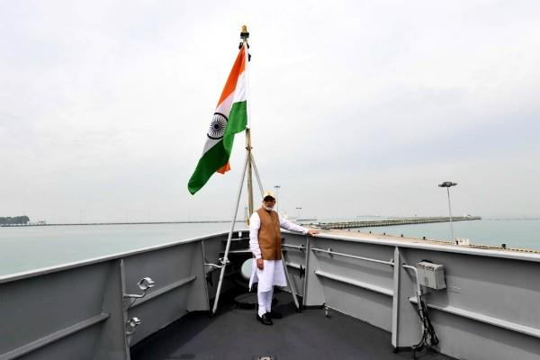 pm modi returned to delhi after siege of china at the straits of malacca