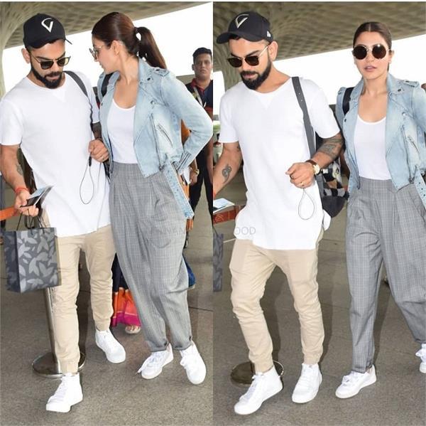 एयरपोर्ट पर दिखना हो कूल और स्टाइलिश तो इस कपल से लें ड्रैसअप टिप्स