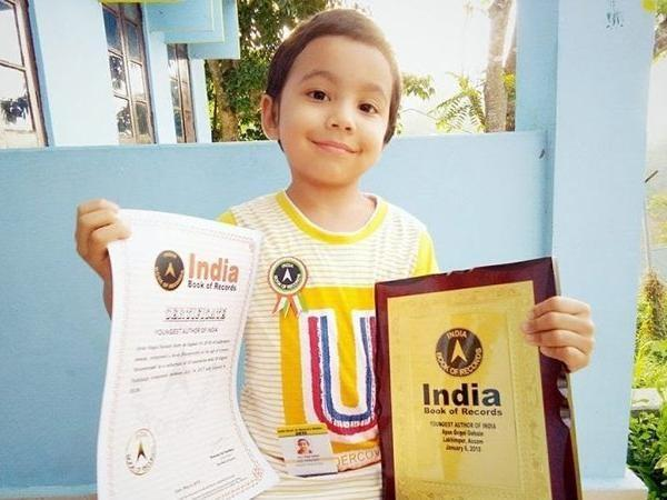 this child youngest author of india