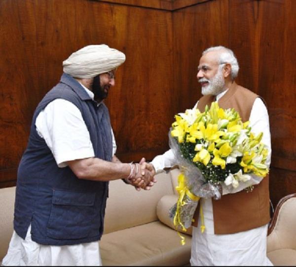 captain amarinder singh meets pm narendra modi