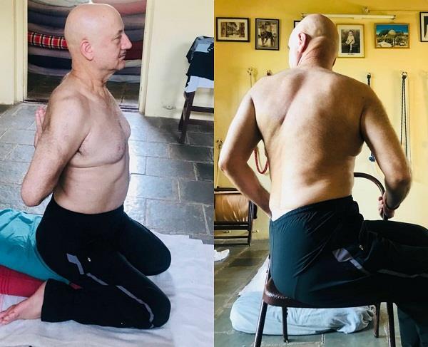 इंटरनेशनल योगा डे के खास मौके पर अनुपम खेर ने शेयर की तस्वीरें
