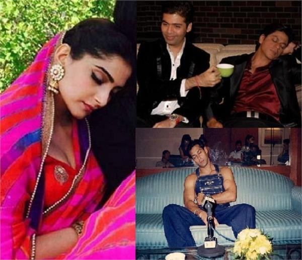 these bollywood celebrities are sleep anytime anywhere