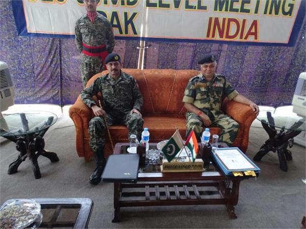 flag meeting between india and pak at octroi post