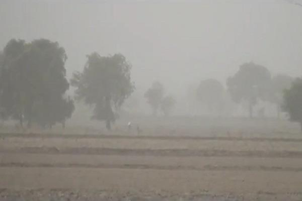 dusty packets flying across the winds of northern india including haryana