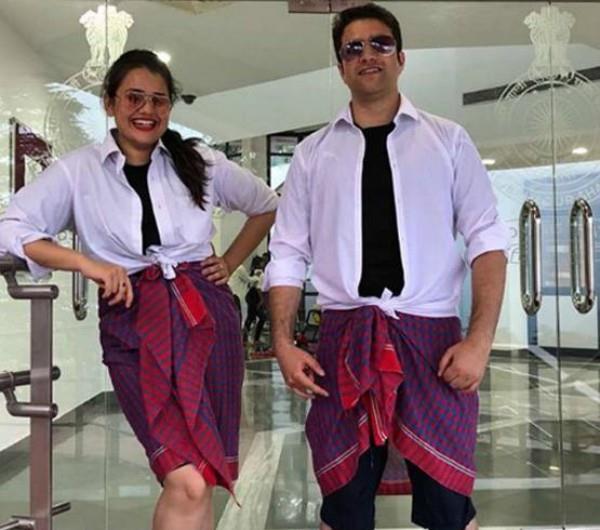 ias tina dabi will do lungi dance with husband athar