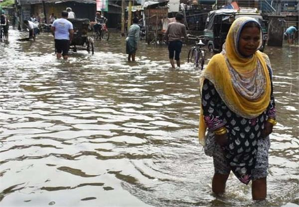 gorakhpur submerged with rain open pole claims for arrangements