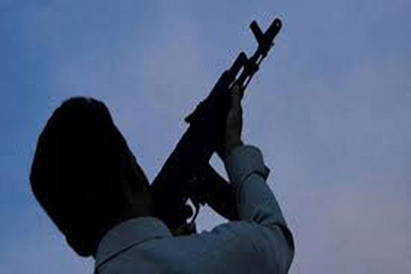 areial firing by militants in shopian