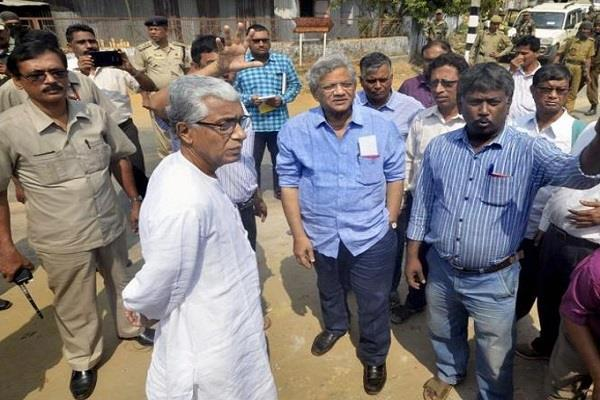 cpi m warns tripura government to stop violence