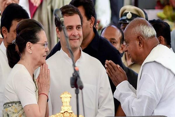 rahul gandhi talk to devegowda deadlock over the departments