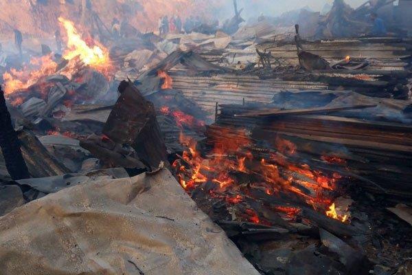 15 dead 70 injured as fire razes market in nairobi