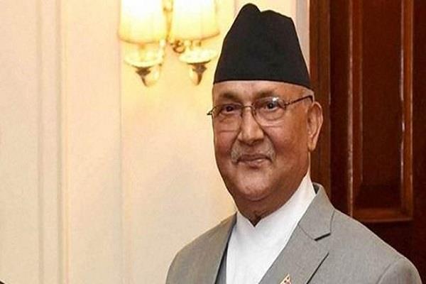 nepal s prime minister oli arrived in china