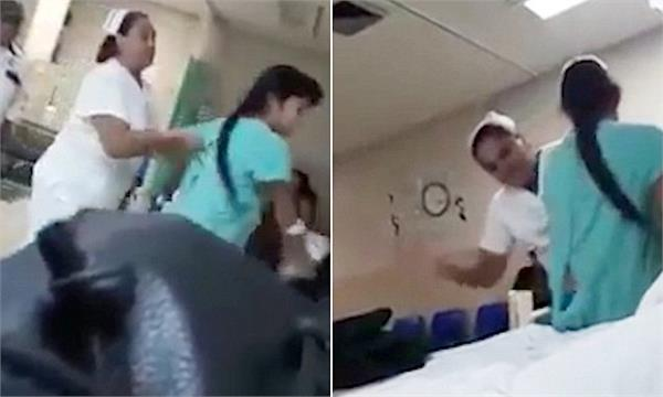 nurse repeatedly slaps 10 year old girl in mexican hospital