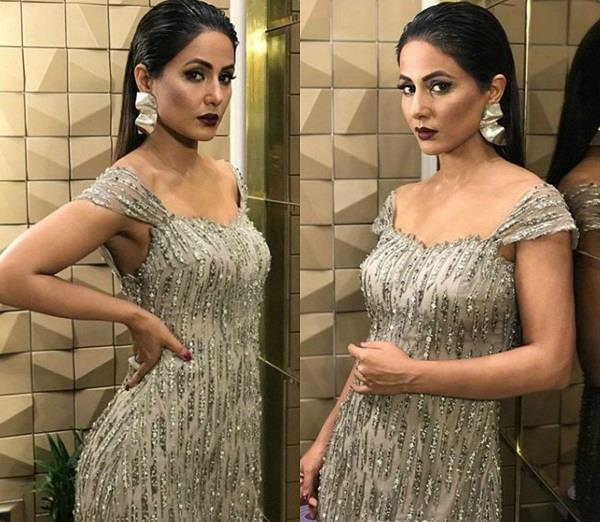 hina khan won the tag of stylish diva in gold awards 2018