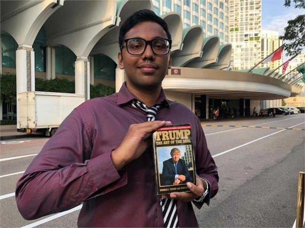 this indian spent 38000 rupees for a glimpse of the trump