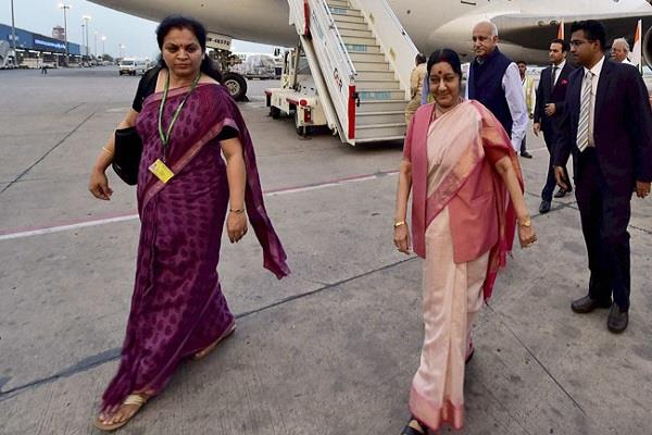 sushma swaraj plane missing from mauritius