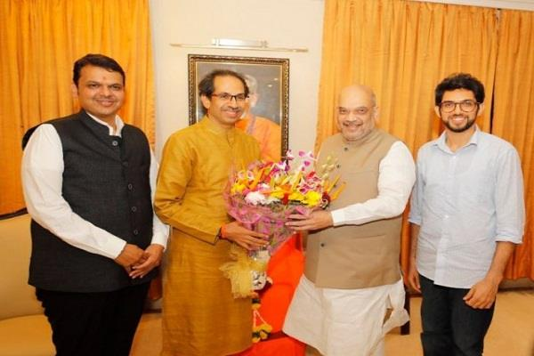shiv sena demands cm post for bjp with 152 seats in assembly