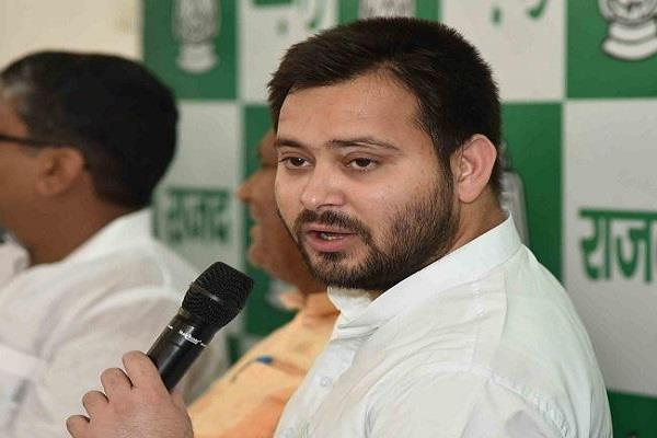 tejashwi yadav give statement on creation scandal