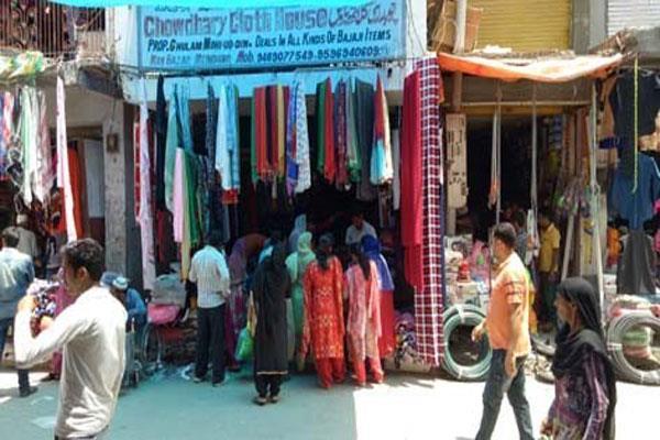 sales slump in the markets ofkashmir ahead of eid