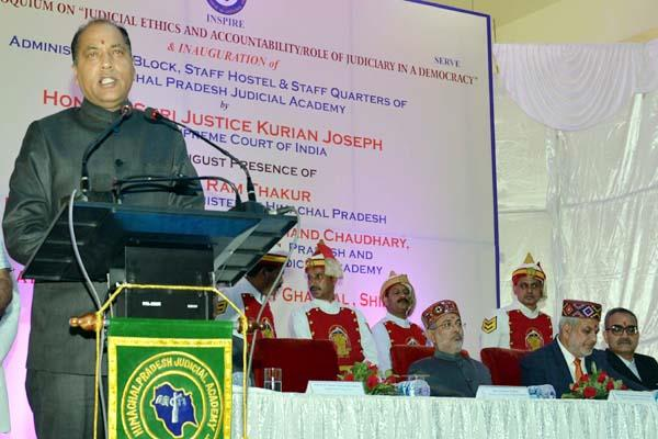 cm said government will help in improving the judicial