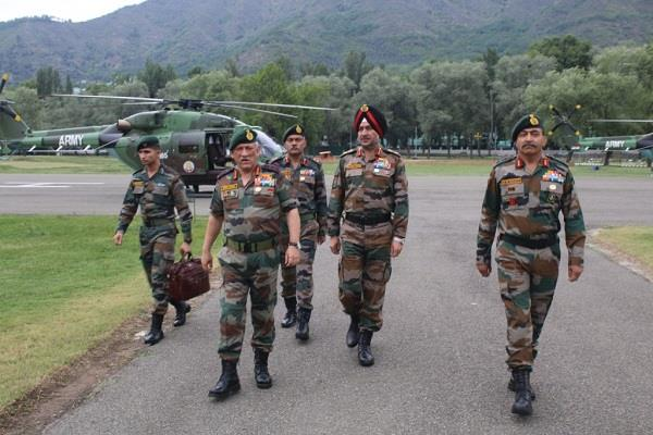 army chief reviewed the security situation in areas engaged in the loc