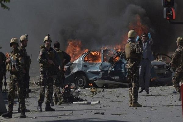 seven people die in suicide attack in front of ministry in afghanistan