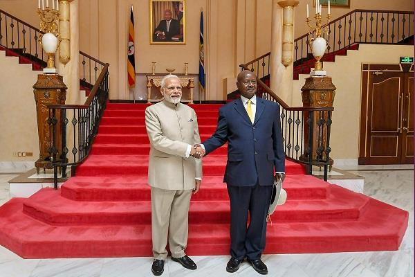 india gives uganda a loan facility of 200 million four agreements signed
