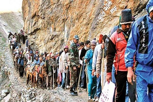 amarnath yatra 326 pilgrims stranded safely